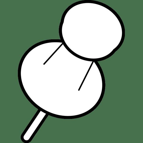 ビジネス ピン(画鋲)(モノクロ)