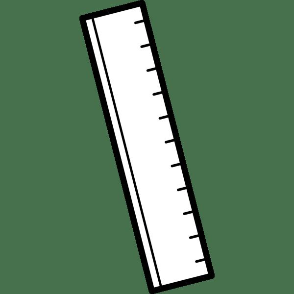 学校 定規(モノクロ)