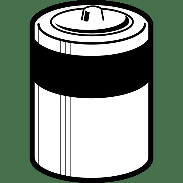 学校 乾電池(モノクロ)