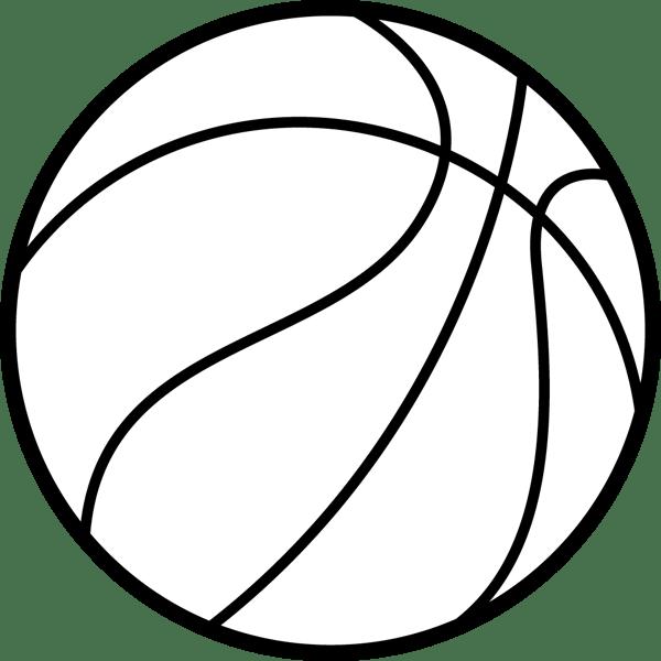 スポーツ バスケットボールモノクロ 無料イラストpowerpoint