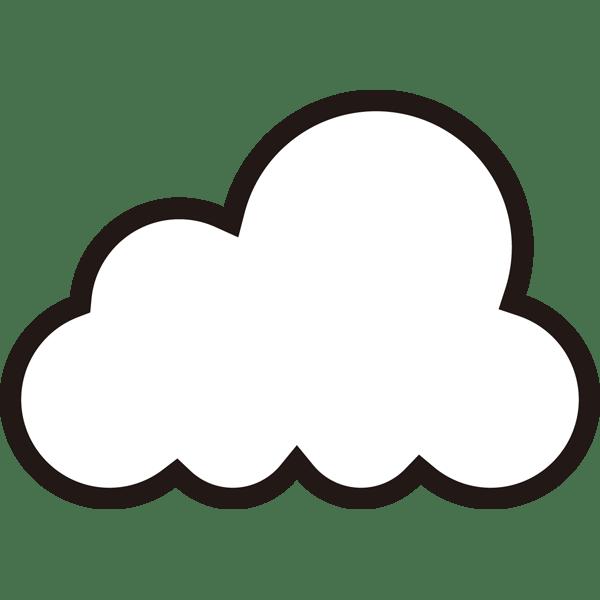 自然 くもり(天気・雲)(モノクロ)