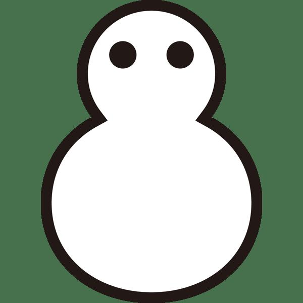 自然 雪(天気・ゆきだるま)(モノクロ)
