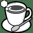 食品 コーヒー(ホットコーヒー)(モノクロ)