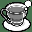 食品 紅茶(ホットレモンティー)(モノクロ)