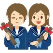 卒業 卒業証書 女子学生 制服