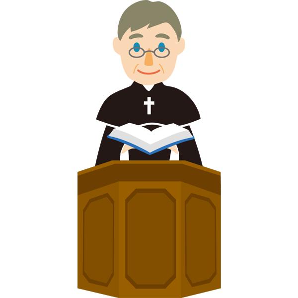 神父 教会 無料イラストpowerpointテンプレート配布サイト素材工場