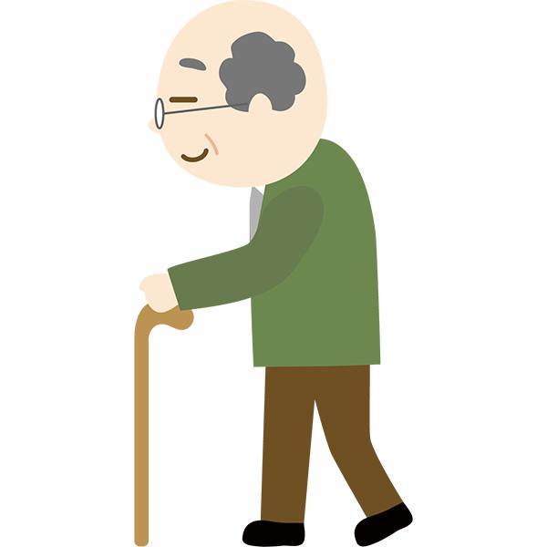 おじいさん 歩く 杖 無料イラストpowerpointテンプレート配布サイト