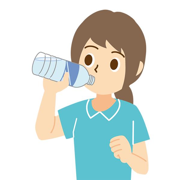 水分補給 女性 無料イラストpowerpointテンプレート配布サイト素材
