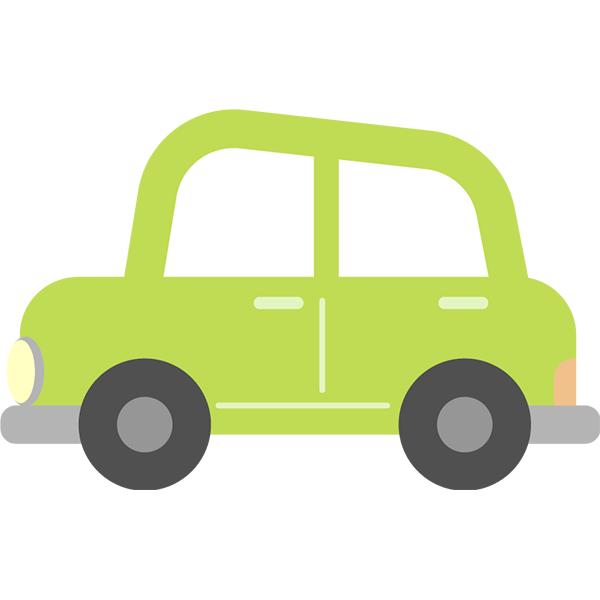 左向きの車 緑 無料イラストpowerpointテンプレート配布サイト素材
