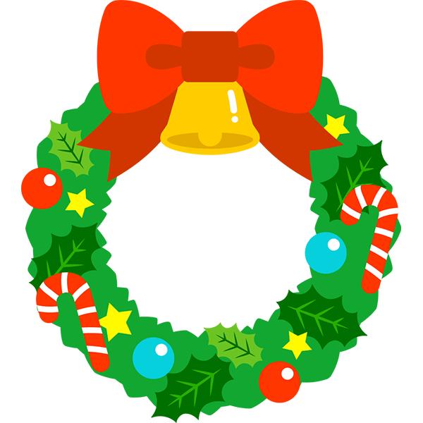 クリスマスリース 無料イラストpowerpointテンプレート配布サイト