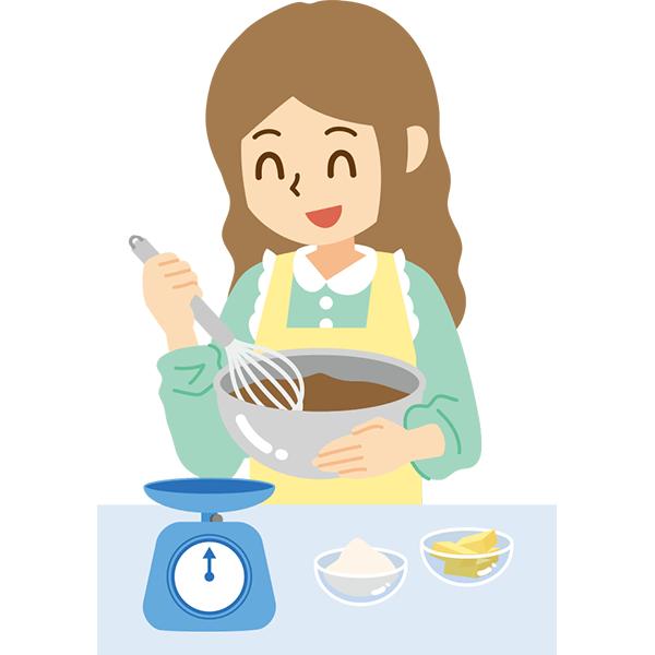 お菓子を作る女の子 無料イラストpowerpointテンプレート配布サイト