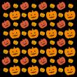 背景画像 ハロウィン かぼちゃ(黒地)