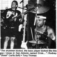 """New Funk Times 7 (1991): Rodney """"Skeet"""" Curtis & Tony Thomas (Photo: Peter Jebsen / All rights reserved)"""