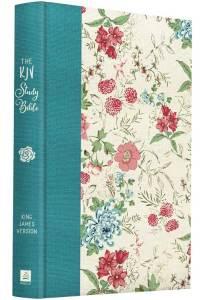 KJV Study Bible  (new feminine hardback cover)