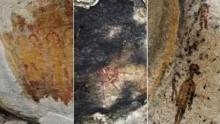 Desenhos nas cavernas de Chhattisgarh-Índia