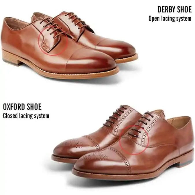 The difference between Oxford and Derby shoes