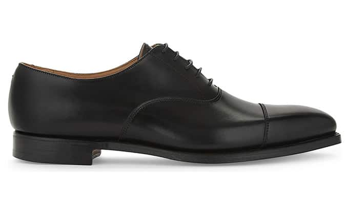 CROCKETT & JONES Hallam leather Oxford shoes