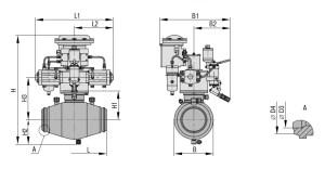 Краны шаровые Тяжпромарматура ручные и с пневмогидроприводом Ду 150 мм Pу 8.0, 12.5, 16.0 МПа