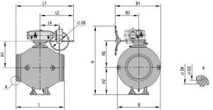 Краны шаровые МА 39033 Ду 1200 мм