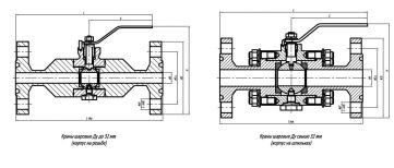 Краны шаровые 11нж01пф ст. 12Х18Н10Т фланцевые чертеж