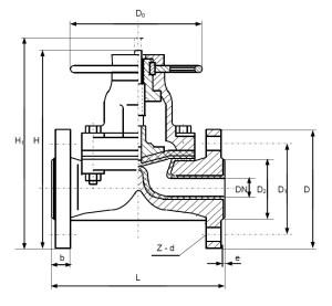Клапаны химические ВДХ чертеж