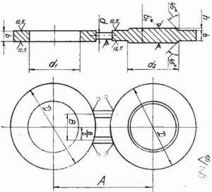 Заглушки поворотные АТК 26-18-5-93 исполнение 1 чертеж