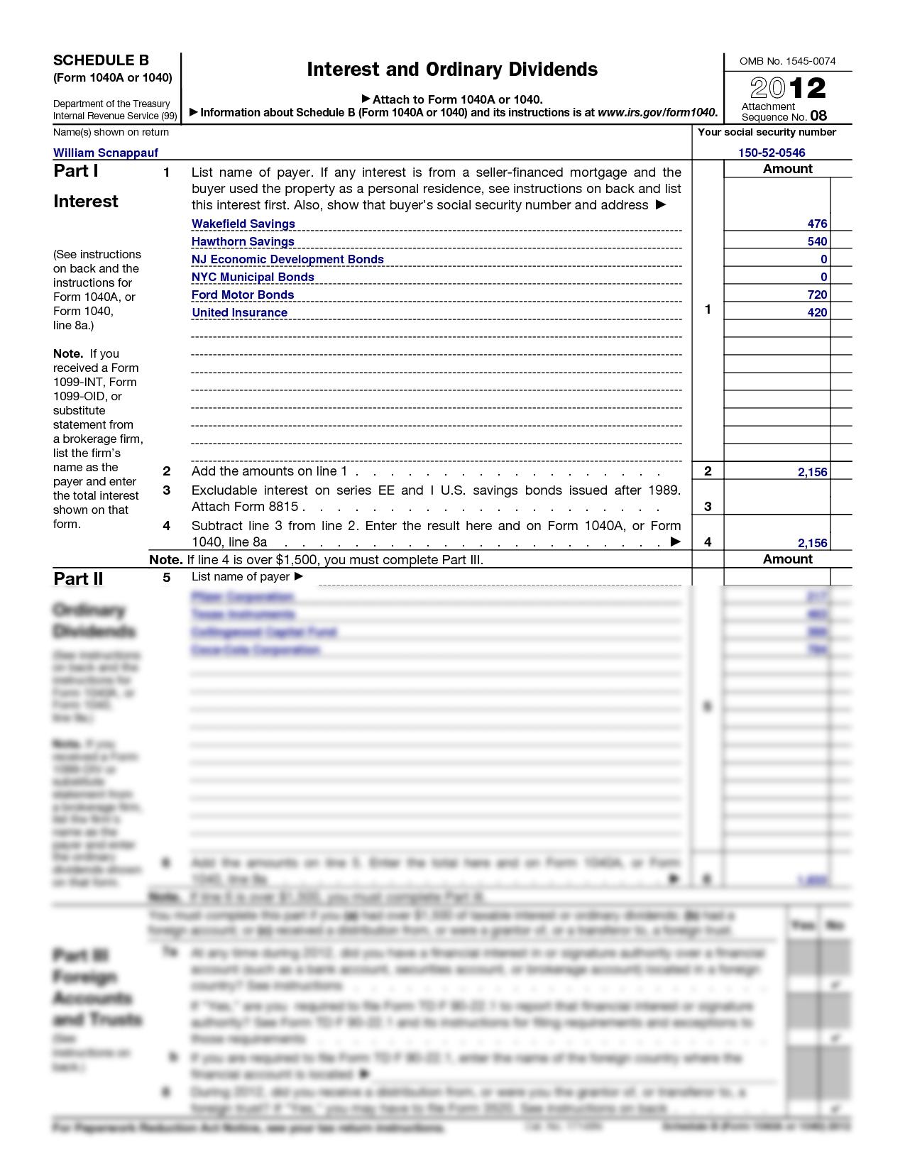 B form 1040 2013 schedule b form 1040 2013 falaconquin