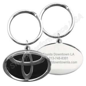 Item # K001TO - Custom Die Struck Oval Toyota Dealer Keytag