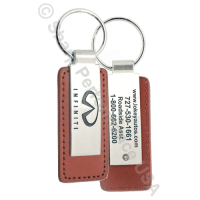 K0383Tan Leather and Metal key holder