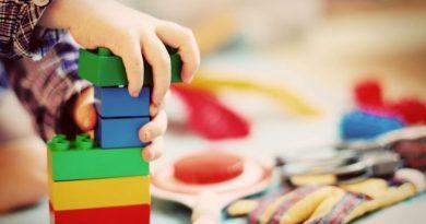 child, tower, building blocks