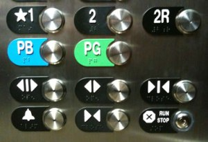 elevator buttons sized