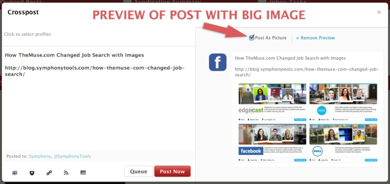 post blog as BIG picture on facebook
