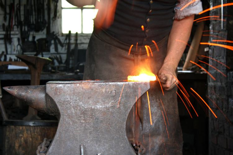 Blacksmith at Work - Colonial Williamsburg