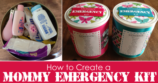 How to Create a Mommy EMERGENCY Car Kit.  Perfect baby shower gift idea for a new Mommy!