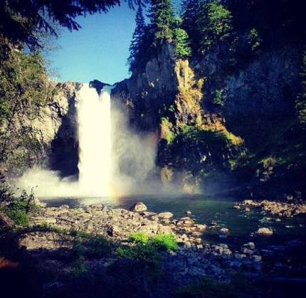 PSE Snoqualmie Falls photo shoot, August 2013. Shared via Twitter.