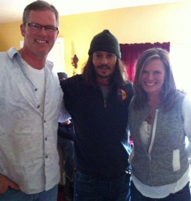 Johnny Depp in Carnation, Feb. 26, 2013 courtesy of Jeff Warren Insurance Facebook page, originally posted by Miller's Carnation.