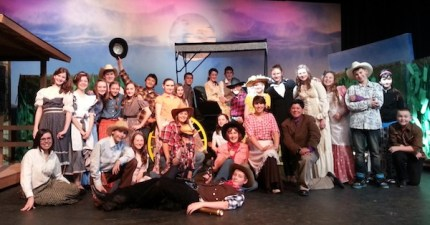 Cast of Twin Falls adaptation of Oklahoma, running May 9-11, 2013
