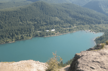 View of Rattlesnake Lake from atop Rattlesnake Ledge.