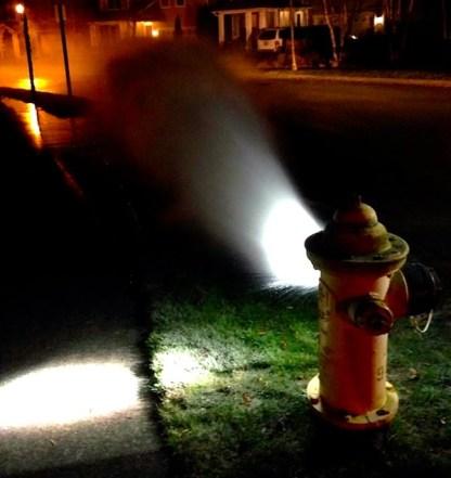 Open Stellar Ave fire hydrant, 11/21/13