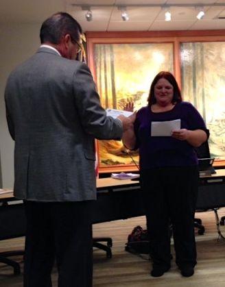 Marci Busby takes School Board Oath of Office, 1/9/2013