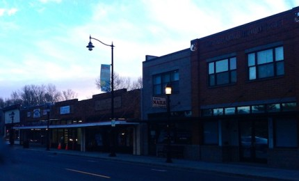 Retail area of Railroad Ave in historic Snoqualmie, 2/6/14
