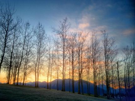 Sunrise from Snoqualmie Community Park, 3/21/14 by Rana Hoover