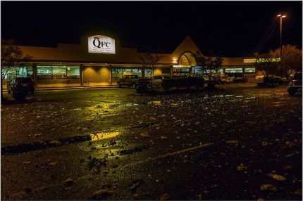 Debris from North Bend explosion litters QFC parking lot on North Bend Way