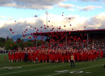 Mount Si High School graduation ceremony 2013. Photo: Paige McCall, class of 2015
