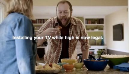 YouTube Screenshot: Legal to Install TV high, not to Drive to get a New One