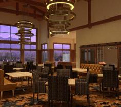 Rendering of new indoor eating space