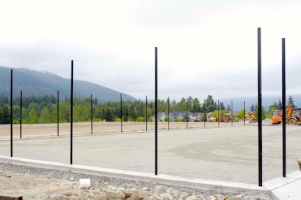 Unfinished tennis court at Jeanne Hansen Park is one of park components still to be completed. Pic: Facebook