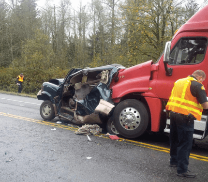 SR 18 accident, 10/28/14.  Photo: WSP Twitter feed