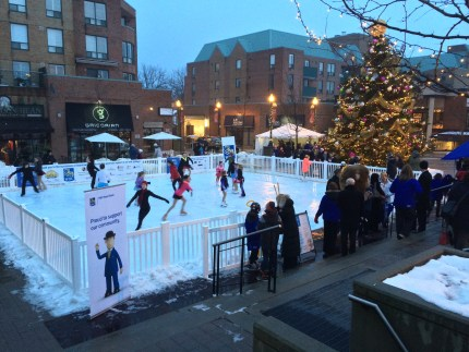 Synthetic ice rink used in Oakville Winter Wonderland event.