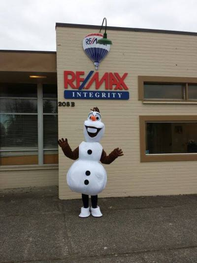 Olaf will also be making a special appearance on Saturday at ReMax Realty.